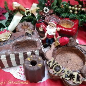 *X'masのモルタルケーキ鉢*
