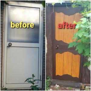 *味気ないスチール製のドアをメルヘンにする方法*