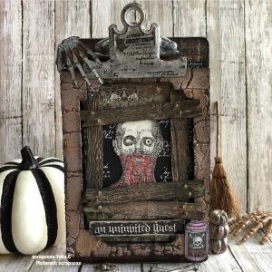 クリップボードをハロウィンに装飾