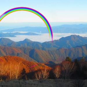 夕方 雨の後 きれいな虹が出ていました