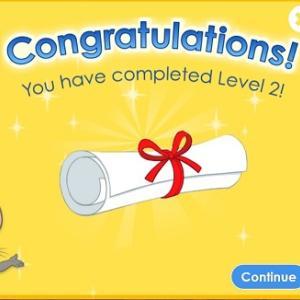 英語のリスニング・スピーキング能力がアップしてきました。楽天ABCmouse、Level2をクリア。