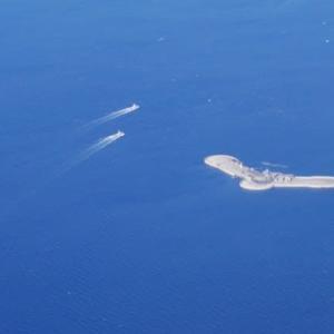 飛行機から見えた!第2海堡?