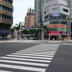 県庁前のスクランブル交差点