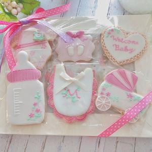 ♡オンラインレッスンレポ♡出産祝いにアイシングクッキーのプレゼント