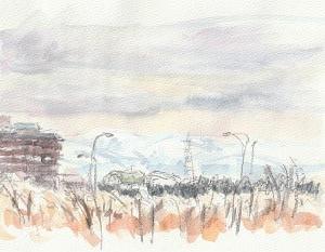 積雪ゼロの富山へ(1)
