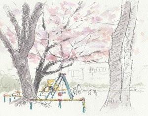 バッチイ公園の桜