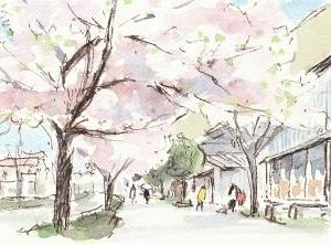 桜とフルーツ大福
