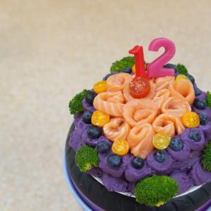 ■食事療法 12歳のバースディケーキは、飼い主さんのお手製で。#食事療法#お誕生日