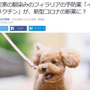 ■Yahoo!ニュース 愛犬家の馴染みのフィラリアの予防薬「イベルメクチン」が、新型コロナの新薬