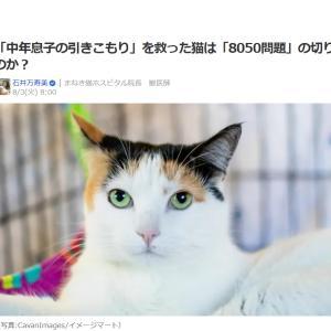 ■Yahooニュース 「中年息子の引きこもり」を救った猫は「8050問題」の切り札なのか?