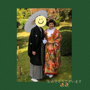 お似合いの装いで晴れの日にますます素敵な花嫁ちゃま♡