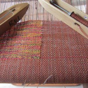 今日も家で手織り