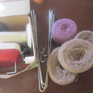 紫色の糸を使ってみよう