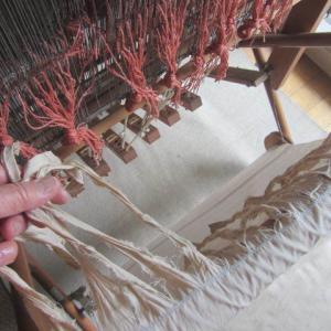 手織りと和菓子