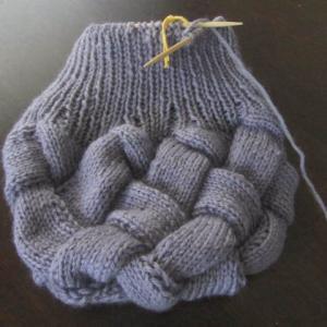 帽子が編めました!