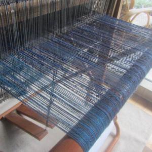 青い糸を張りました