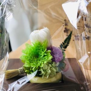 今日のトレード & 仏花