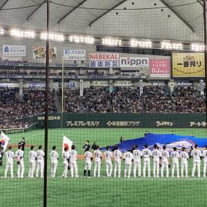 昨晩は侍ジャパンの試合へ!