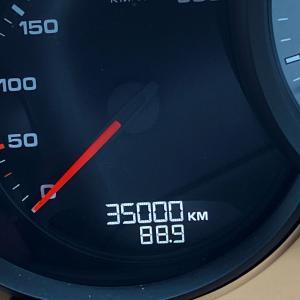 ボクスター35,000km通過