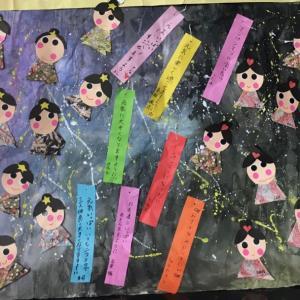 色々な七夕作り(^^)今年はおり姫とひこ星会えるかなあー