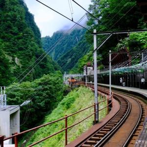 黒部峡谷鉄道トロッコ電車に乗って(3)