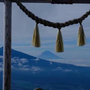 思い出の1枚(車山から富士山を遥拝しました)