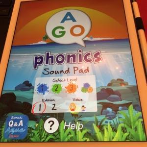AGO phonicsのアプリが!