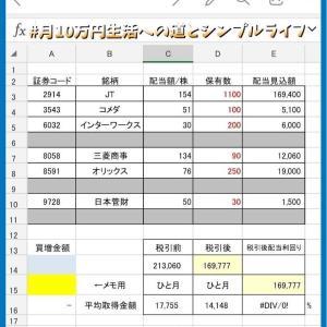 【株主優待・配当金】配当見込み学速報!