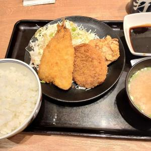 食レポ 吉野家のミックスメンチカツ定食