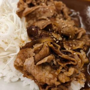食レポ かつやの牛生姜焼きカレー