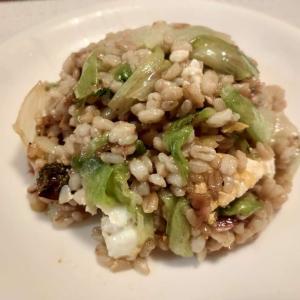 レシピ もち麦玄米ご飯でつくるレタスチャーハン