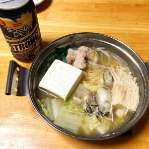 【男飯】ゴマ中華鍋、柿、キャベツとみょうがのぬか漬け