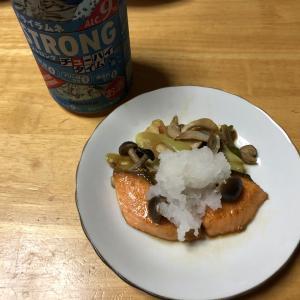 鮭とシメジの炒めもの