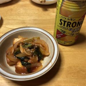 厚揚げとサバのケチャップ煮、ささみとタラコのキムチ和え、ちくわのキンピラ
