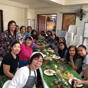 バナナの葉の食事会フィリピン開催