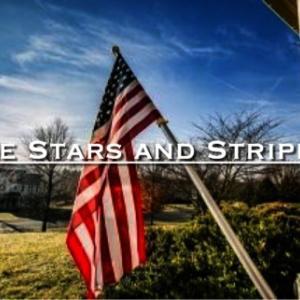 星条旗のある家
