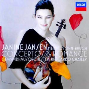 ◇クラシック音楽CDレビュー◇ジャニーヌ・ヤンセンのメンデルスゾーン:バイオリン協奏曲ホ短調 /ブルッフ:ヴィオラと管弦楽のためのロマンツェ /ブルッフ:ヴァイオリン協奏曲第1番
