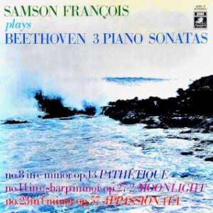 ◇クラシック音楽LP◇サンソン・フランソワのベートーヴェン:ピアノソナタ「悲愴」「月光」「熱情」