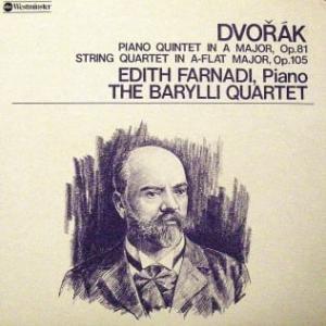 ◇クラシック音楽LP◇ドヴォルザークの室内楽曲の名品、ピアノ五重奏曲と弦楽四重奏曲第7番