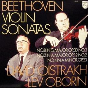 ◇クラシック音楽LP◇オイストラフ&オボーリンの名コンビによるベートーヴェン:ヴァイオリンソナタ第8番/第2番/第4番