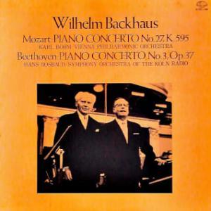 ◇クラシック音楽LP◇バックハウスのモーツァルト:ピアノ協奏曲第27番/ベートーヴェン:ピアノ協奏曲第3番(ライヴ録音)