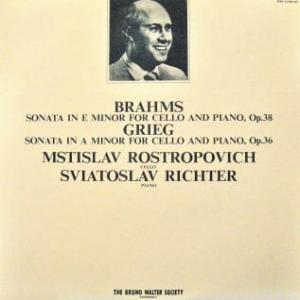 ◇クラシック音楽LP◇ロストロポーヴィッチ&リヒテルのブラームス:チェロソナタ第1番/グリーグ:チェロソナタ(ライヴ録音盤)