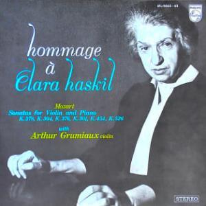 ◇クラシック音楽LP◇グリュミオー&ハスキルの名コンビによるモーツァルト:ヴァイオリンソナタ選集
