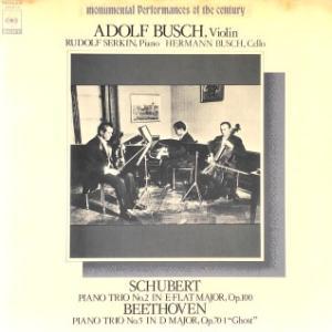 ◇クラシック音楽LP◇ブッシュ兄弟&ゼルキンのシューベルト:ピアノ三重奏曲第2番/ ベートーヴェン:ピアノ三重奏曲第5番「幽霊」