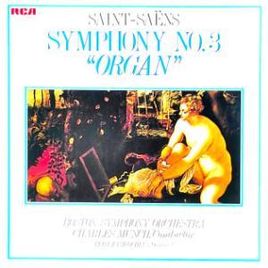 ◇クラシック音楽LP◇シャルル:ミュンシュ指揮ボストン響のサン=サーンス:交響曲第3番「オルガン付き」