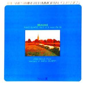 ◇クラシック音楽LP◇デムスとバリリ四重奏団員のブラームス:ピアノ四重奏曲第2番