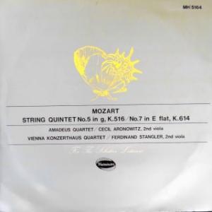 ◇クラシック音楽LP◇モーツァルト:弦楽五重奏曲第4番/第6番