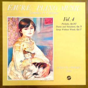 ◇クラシック音楽LP◇イヴリン・クロシェのフォーレ:前奏曲集/主題と変奏/無言歌
