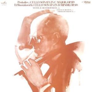 ◇クラシック音楽LP◇ロストロ・ポーヴィッチのプロコフィエフ/ショスタコーヴィッチ:チェロソナタ