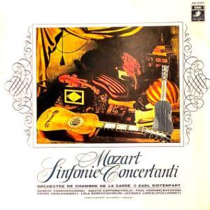 ◇クラシック音楽LP◇フランスの一流の独奏者によるモーツァルト:協奏交響曲K.297b/協奏交響曲K.364